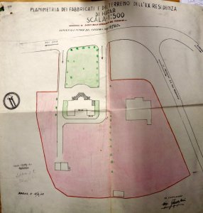 1937 Italian plan of the Residenza site, given to the British in 1943.