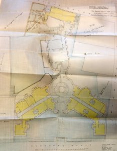 New hospital layout proposed in 1902 by Percy Adams.