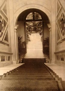 View down ambassador's stair to ground floor, 1924.