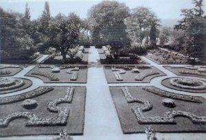 View of the garden from the house, 1920s.