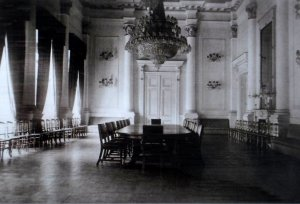 Ballroom, 1925, arranged for conference.