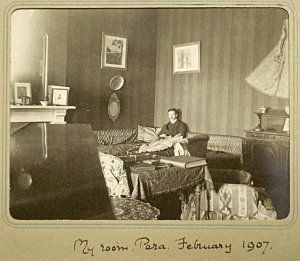 A junior Percy Loraine (later ambassador, 1933-9) in his room in 1907.