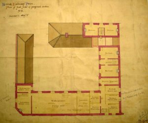 First floor plan of stables block.