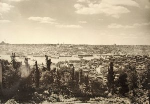 View southwards from Pera House across the Golden Horn, 1924.
