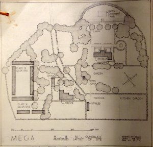 Proposed compound layout, 1949, completed 1952.
