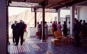Terrace at new residence, 1993.