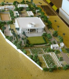 Model of new office compound, 1992.