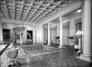 In the reception hall, looking into the reception room, 1950.