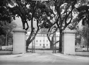 Entrance gates, made by Messrs. Martyn of Cheltenham, 1950.