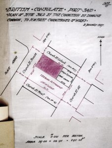 Location plan of site bought in 1907