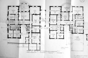 1925 ground floor plan of summer residence, built 1912.