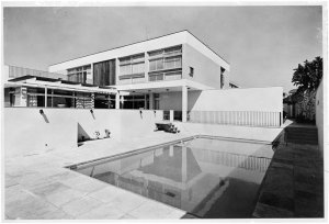 View from swimming pool at rear, 1966.