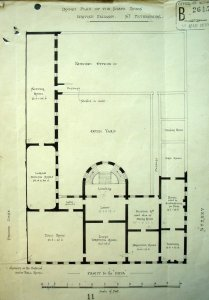 1879 plan of State and major rooms on the first floor of the Soltykoff Palace.