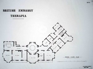 Second floor plan, 1906.