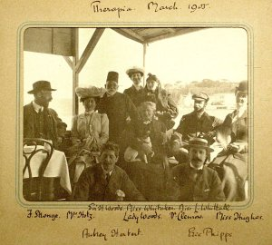 Boating party, 1905.