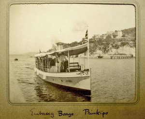 The embassy barge in 1907.