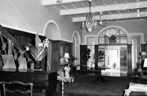 Hall, looking towards front door, in residence, 1964.