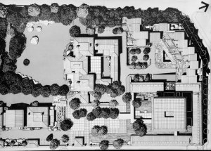 Powell and Moya's 1976 proposal for developing the north end of the compound.