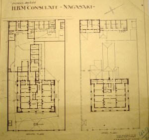 Site plan of rebuilt consulate, 1912.