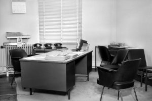 Single office, probably for a first secretary, 1964.
