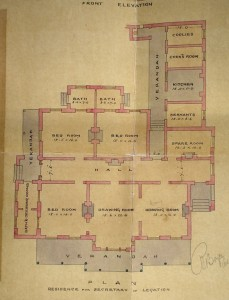 Boyce's proposed ground floor plan for secretary of legation's house, 1871.