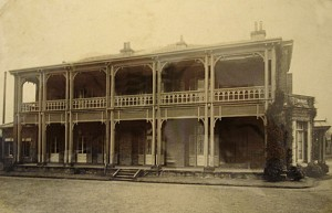 West front of minister's residence, c. 1910.