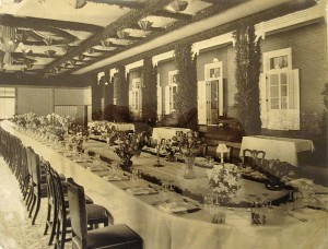 Interior of new dining room, 1911.