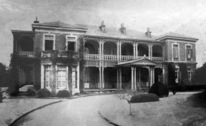 Entrance front of the minister's residence, c.1900.