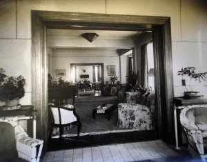 The reception rooms of the new residence, 1939.