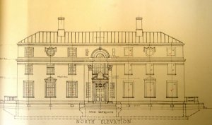 Front elevation of new consulate-general building, 1930.