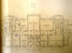 Ground floor plan of new consulate-general building, 1930.