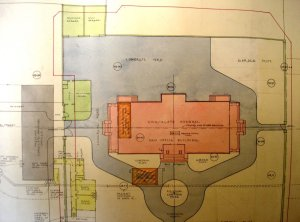 1930 layout of new consulate-general offices on most of the Lots 172-3 Yamashita-cho site.