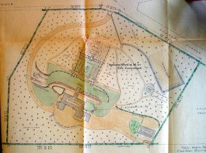 1936 siteplan of grounds of Silvertrees.
