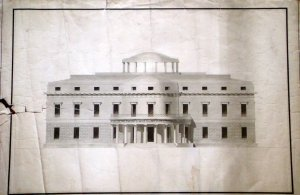 2. Constantinople. Design for the garden front of Elgin's palace by the Roman architect Vincenzo Balestra, 1802. [Photo courtesy of Lord Elgin.]