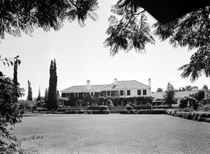 The garden front of the residence at 14 Bryntirion in 1964.