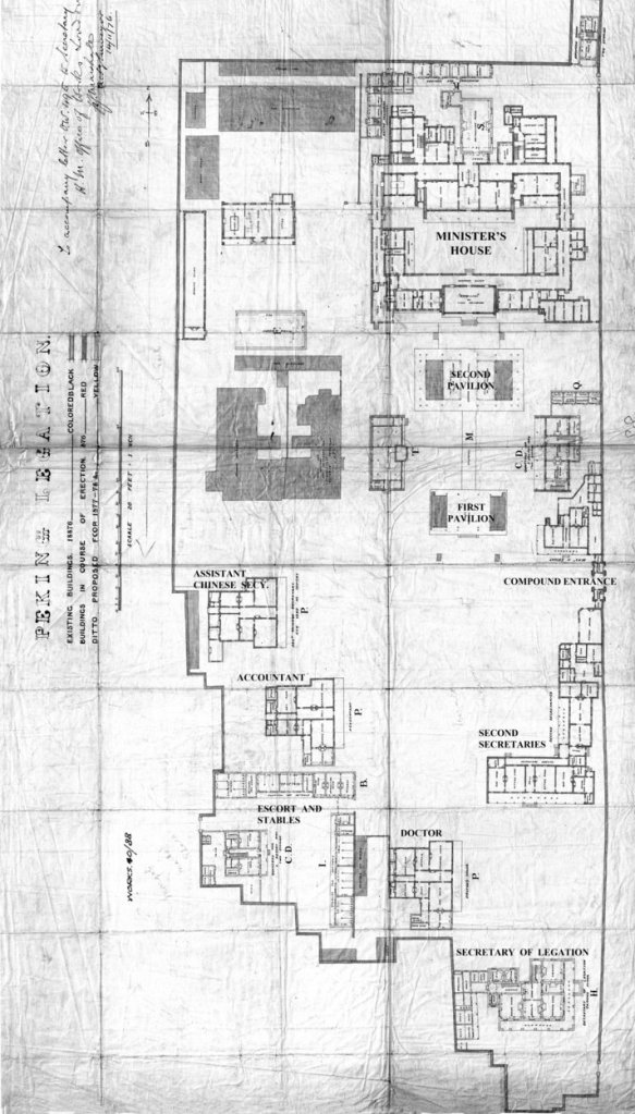 Plan of legation compound, 1876.