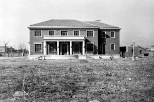 Residence, garden (north) front, 1959.