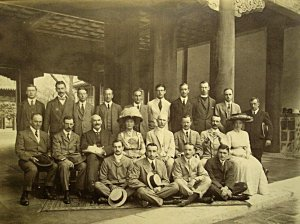 Legation staff group, c 1910.