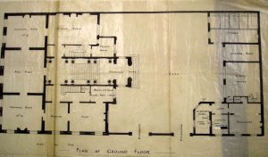Ground floor plan of Hotel de Rodes, 1897.