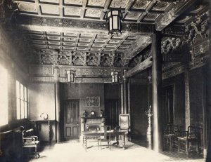 Minister's residence: hall, c 1895?