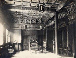 Minister's residence: hall, c 1895?