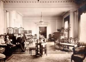 Drawing room, c 1930.