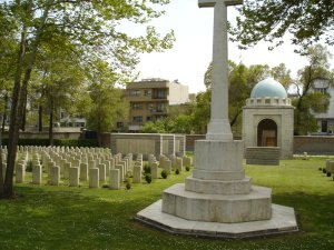 Part of the Commonwealth War Graves Commission cemetery, 2005.