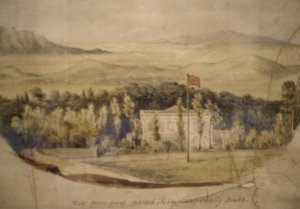 Lt. Pierson's sketch of summer residence, 1865.