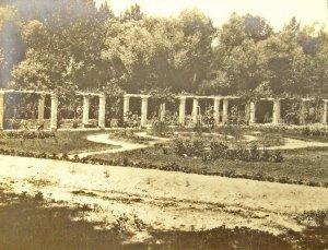Minister's rose garden, 1920s.