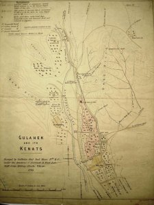 Survey of qanats serving the Gulhak compound, 1895.