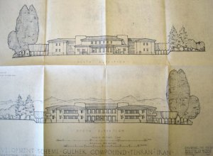Ministry of Works elevations of proposed staff house, 1947.