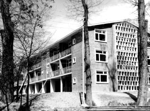 Block of junior staff flats, 1958.