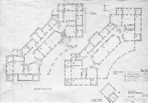 Floorplans of second agency building, 1961 (ground floor on left).