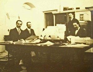 Chancery staff, perhaps at work, c.1925.